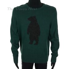 Urban Pipeline Young Men's X-Large Crew Neck Green Sweater with Black Bear