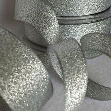 7,15,25,40mm Berisfords Sparkly Lame Ribbon Rose Gold Silver Gold Copper Glitter