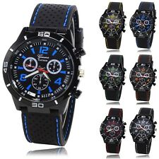 Mens Boys Silicone Sports Wristwatch Fashion Watch Brand New Choose Colour