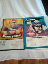 2 1995 1996 Genesee Beer Penn State game schedule poster 14 x 21