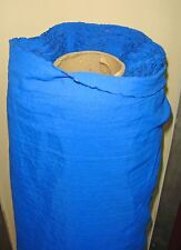 1 METRE OF BRIGHT ROYAL BLUE COTTON/LINEN MATERIAL