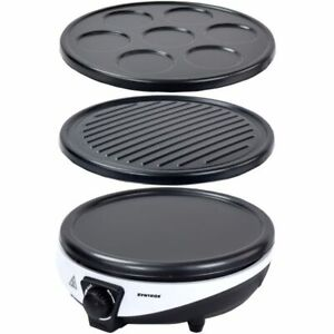 3 in 1 Crepes Maker Pfannkuchen Eierkuchen Pancake Gerät Grillplatte Neu Syntrox