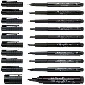 FABER CASTELL Tuschestift PITT ARTIST PEN schwarz [Stärke wählbar]