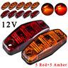 "5X Red+5X Amber 12V DC LED Side Marker 2.5"" Clearance Lamp Truck Trailer Light"