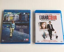 """Lot De 2 Blu Ray """"Minuit A Paris"""" Et """"L'Arnacoeur"""""""