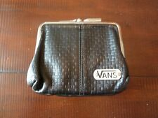 Vintage VANS Off The Wall Coin Pouch Card Wallet Black Womens