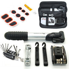 16 in1 Multi-function Tool Repair Kit Set With Pump & Bag For MTB Bike Bicycle