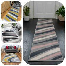 Grey Swirl Rugs for Living Room Hallway Runner Yellow Pink Modern Area Mat Cheap