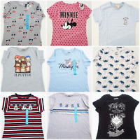 PRIMARK WOMEN'S LADIES DISNEY CHARACTER CASUAL TOP SHORT SLEEVE T-SHIRT