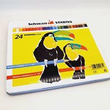 Vintage Stabilo Schwan color pencil set in tin box