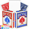 BICYCLE RIDER BACK NO FACE BLANK MAGIC TRICKS CARDS DECK RED BLUE USPCC NEW