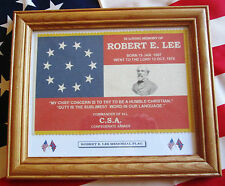American Civil War Flag....Southern Stars and Bars....Robert E Lee memorial Flag