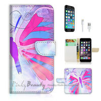 ( For iPhone 7 ) Wallet Case Cover P0480 Butterfly