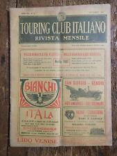 TOURING CLUB ITALIANO rivista mensile n.9 settembre 1909