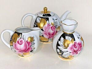 Vintage. USSR. Imperial porcelain factory. Teapot, creamer, vase. Porcelain.