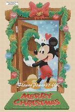 Disney Cross Stitch Chart-Mickey Mouse Noël Bienvenue-Flowerpower 37-uk.