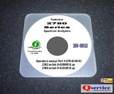 Tektronix TEK 2782, 2784  Series Spectrum Analyzer Operating Manual CD