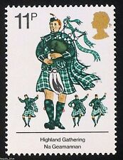 """""""Scottish Piper playing Bagpipes"""" on 1976 Stamp - Unmounted Mint"""