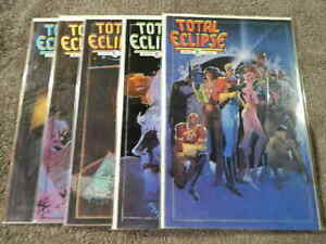 1988 ECLIPSE Comics TOTAL ECLIPSE #1-5 Complete TPB Limited Series Set - VF/NM