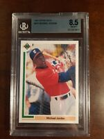 1991 Michael Jordan Upper Deck Baseball Rookie #SP1 BGS- 8.5 HOT CARD!!!