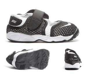 Nursery Nike Little Rift BR (TD Boys) Black/White Trainers (NF2) RRP £34.99