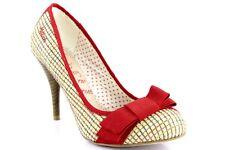 Miss Sixty Mujer Tacones de Cuadros Clásico Zapatos de Tacón Rojo Tacones Altos