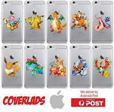 iPhone Silicone Cover Case Pokemon Go Simple Water Paint W/ Lip - Coverlads