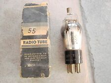 Arcturus #55 VINTAGE RADIO VACUUM TUBE WITH BOX tests 44 out of 40