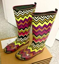 Missoni Target NEW Kids Rain Boots 🥾 Venetian ZigZag Girls SZ 3 Womens 5 5.5