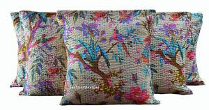 Set of 5 Indian Handmade 16X16 Bird Cotton Hippie Cushion Cover Home decor