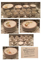 VINTAGE Woodhaven Collection 47-Piece Stoneware Dinnerware Set SUNNY BROOK