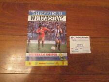 Tottenham Hotspur Football League Fixture Tickets & Stubs (Pre-1992)
