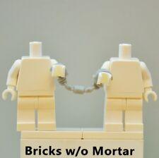 New Genuine LEGO Light Bluish Gray Handcuffs