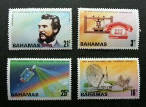[SJ] Bahamas Telephone 1976 Satellite Earth Radio Signal Phone (stamp) MNH