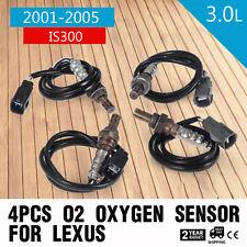 4Pcs O2 Oxygen Sensors For Lexus IS300 Up/Downstream I6 engine 3.0L 2001-2005