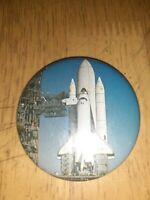 "Vintage Enterprise ""Full Stack"" Space Shuttle Rare 3"" Pinback Button"