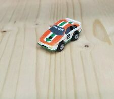 Micro Machines Pontiac Fiero GT #9 White/Red/Green Galoob Very Good Condition