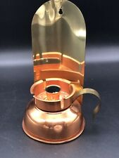 Vintage Coppercraft Guild Copper Storm Lamp Wall Sconce Candle Holder