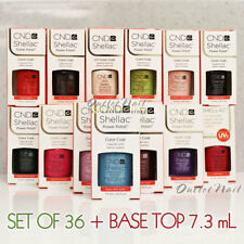 PICK ANY 36 Colors + BASE & TOP COAT CND Shellac UV Gel Kit 7.3ml 0.25 fl oz SET
