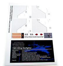 CUSTOM STICKERS for Lego 10240 RED FIVE X-WING STARFIGHER, MODEL DISPLAYS,ETC
