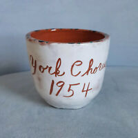 Vintage 1954 York, PA Chorus Art Studio Pottery Coffee Tea Mug Cup Music Note