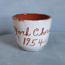 Vintage 1954 York, PA Chorus Art Studio Pottery Coffee Tea Mug Cup Music Note