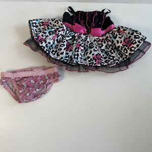 Build A Bear Clothes hello kitty pink Black dress And Underwear Bab Plush