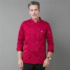 TopTie Unisex Long Sleeve Chef Coat Jacket Men Women Kitchen Work Cook Uniform