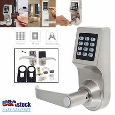 4in1 Electronic Smart Code Keyless Keypad Door Lock Home Security RF Card 2 Keys