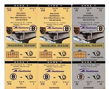 3 November 9, 1995 Boston Bruins Vs Ottawa Senators Full Tickets