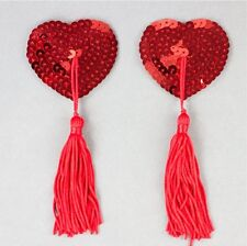 SEXY RED SEQUIN NIPPLE TASSLE/TASSEL - HEN PARTY - BURLESQUE- FANCY DRESS