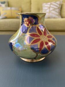 "Royal Venton Ware 5"" Vase Hand Painted Art Deco Style"