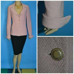 ST. JOHN COLLECTION Knits Pink JACKET L 10 Blazer Collared Buttons