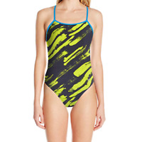 XXS/24 Speedo Women's Endurance Lite Turnz One Back One-Piece Swimsuit